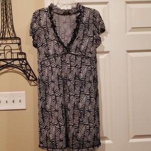 BCBG MaxAzria black/ white geometric print dress